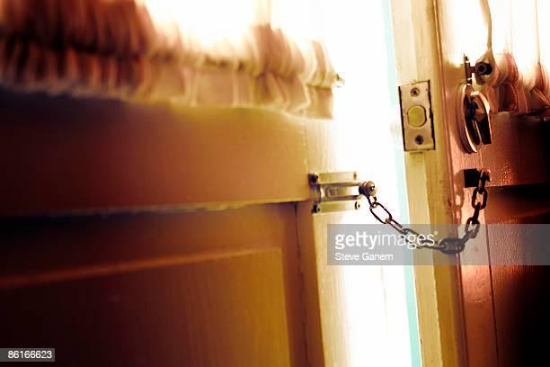 Door with chain lock