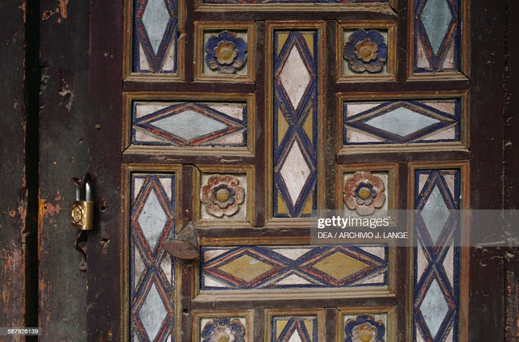 Door with floral and diamond patterns Palace of Ahmed Bey 1828-1835 & Palace of Ahmed Bey Constantine Pictures | Getty Images