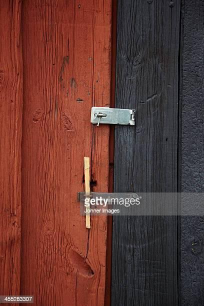 Door with lock, close-up