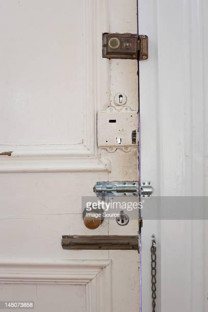 Door with many locks and bolts