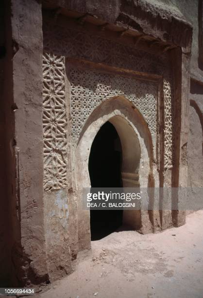 Door with traditional decorations, Taourirt kasbah, Ouarzazate, Morocco.