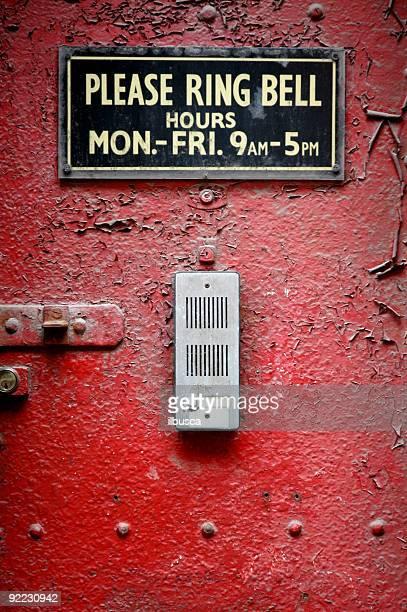 Doorbell on red