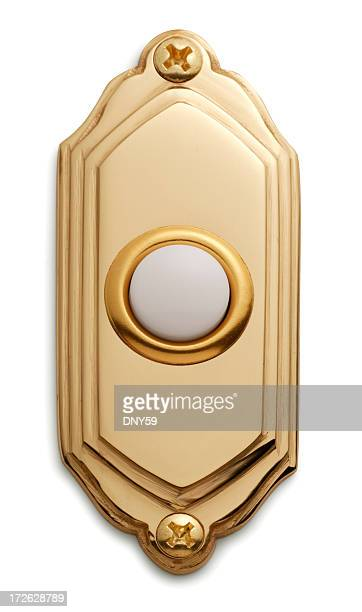 doorbell - brass stock pictures, royalty-free photos & images