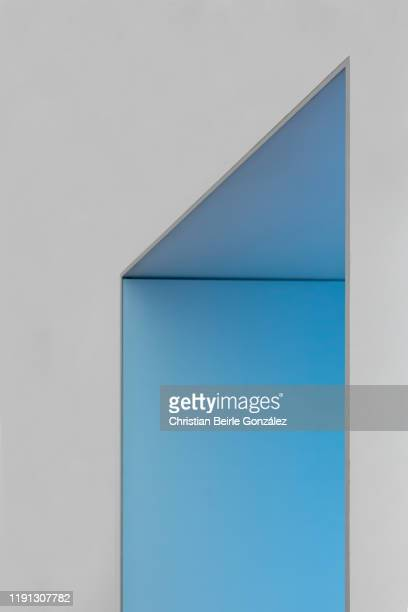 doorframe in blue - christian beirle stock pictures, royalty-free photos & images