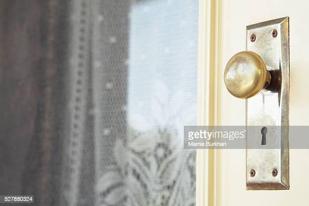 Doorknob and keyhole