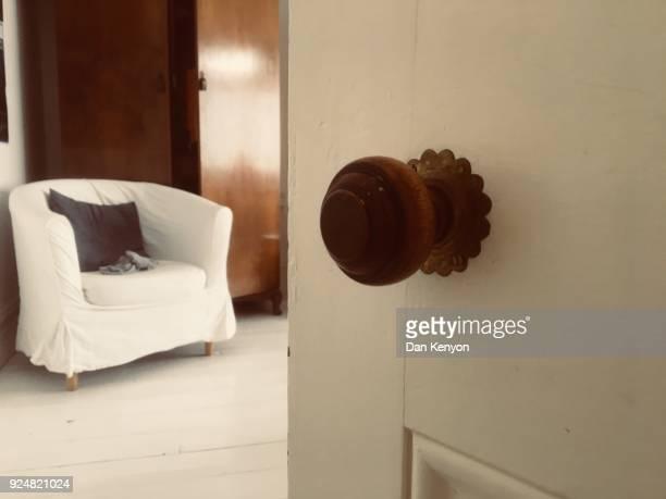 Doorknob with room beyond