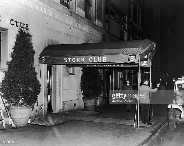 A doorman at the entrance to the Stork Club in New York 1930s