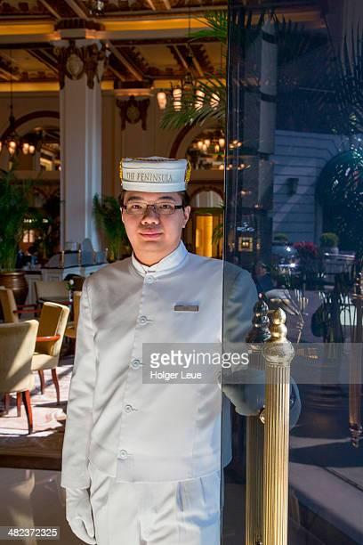 Doorman at The Peninsula Hong Kong Hotel