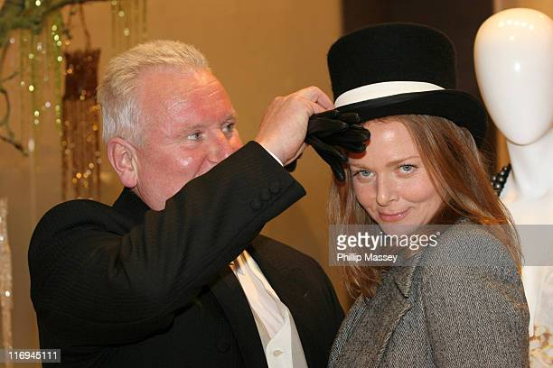 Doorman Ciaran McCabe and Stella McCartney during Stella McCartney Window November 7 2005 at Brown Thomas Grafton Street in Dublin Ireland