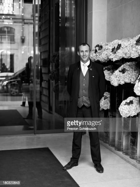 Doorman is photographed for Conde Nast Traveler Spain on October 4 2012 in Paris France PUBLISHED IMAGE