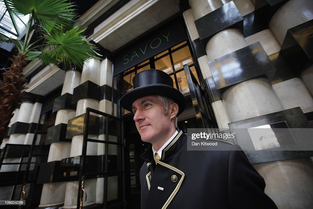 Doorman stands outside the famous Savoy hotel on February 17 2011 in London England  sc 1 st  Getty Images : savoy doorman - pezcame.com