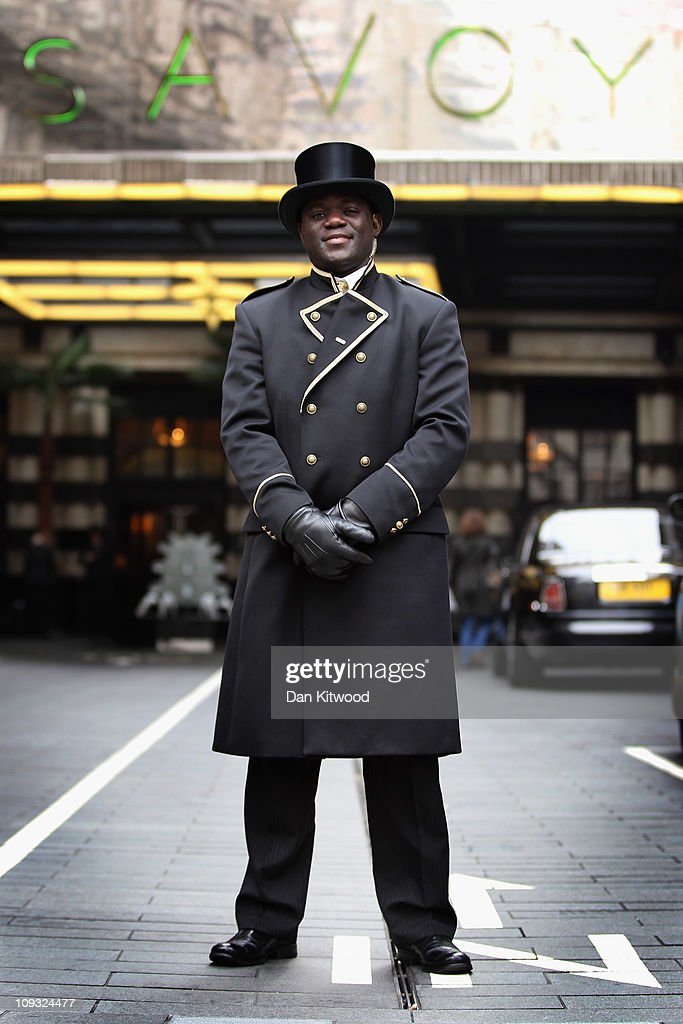 Doorman Stands Outside The Famous Savoy Hotel On February 17 2011 In London England & Savoy Doorman u0026 (Lee Was Sweet To Stand At The Ritz Logo For The ... pezcame.com