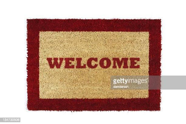 doormat red welcome