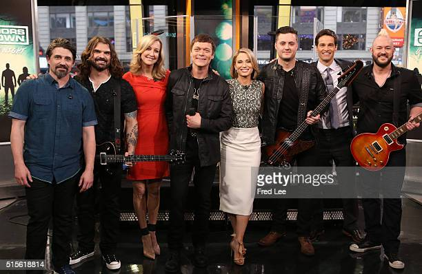 """Doors Down perform live on """"Good Morning America,"""" 3/11/16, airing on the Walt Disney Television via Getty Images Television Network. 3 DOORS DOWN,..."""
