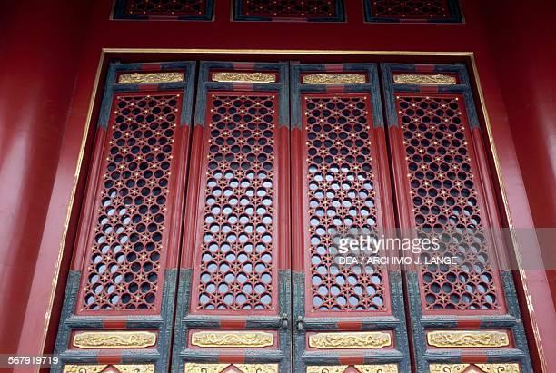 Doors Forbidden City Beijing China 15th century