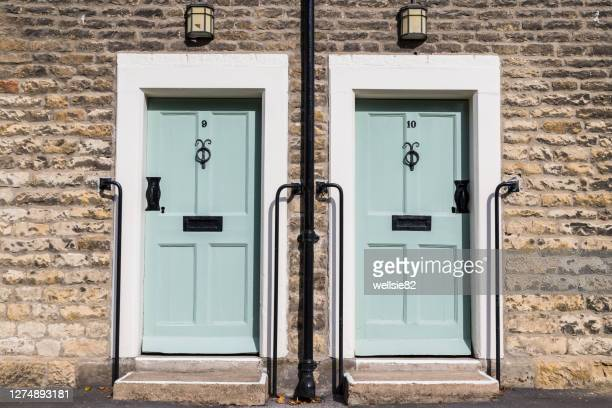 doors in thornton le dale - old fashioned stock pictures, royalty-free photos & images
