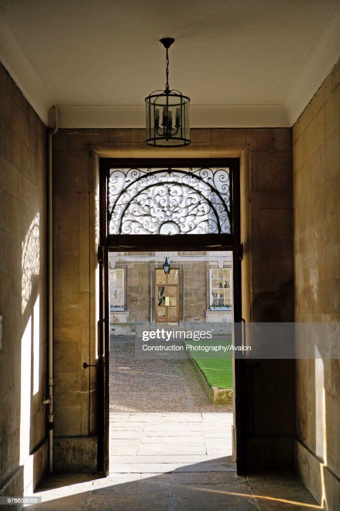 Doors opening on courtyard in a listed building in Cambridge United Kingdom. & Doors opening on courtyard in a listed building in Cambridge United ...
