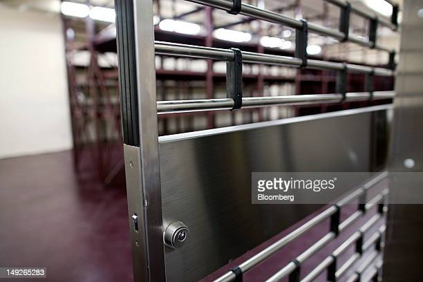 Doors to a vault stand at the MalcaAmit Global Ltd gold storage facility in Hong Kong China on Monday July 23 2012 Hong Kong's largest goldstorage...