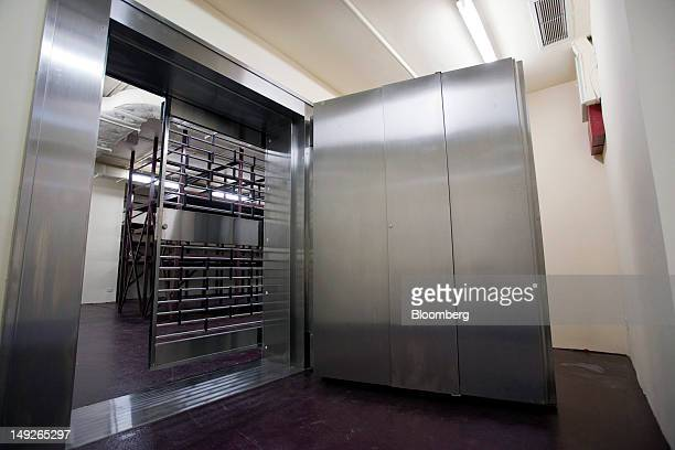 Doors to a vault stand open at the MalcaAmit Global Ltd gold storage facility in Hong Kong China on Monday July 23 2012 Hong Kong's largest...
