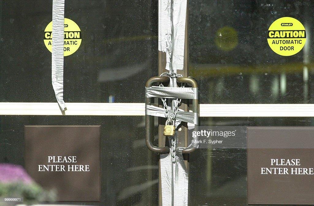 Hart Building Locked Doors : Nyhetsfoto