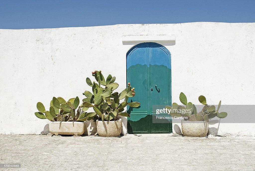 Doorway in Ostuni, Puglia Italy : Stock Photo