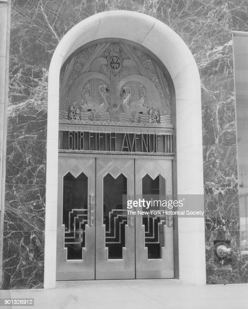 Doorway of the Goelet Building 608 Fifth Avenue New York New York 1929 EH Faile architect metal aluminum General Bronze Co