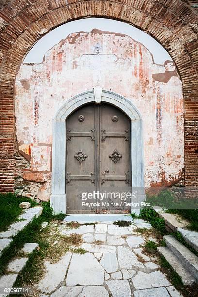 Doorway to the fourth century AD Rotunda of Galerius, a Roman monument