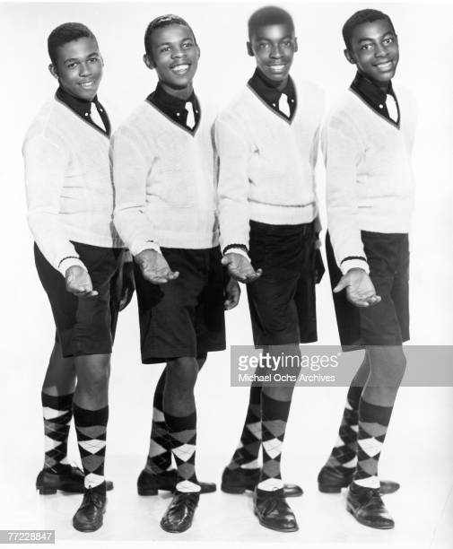 Doowop vocal quartet The Delroys pose for a portrait in circa 1958 in New York City New York