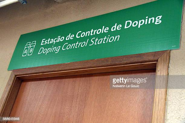 Doping control station on Olympic Games 2016 in Rio at Rio Olympic Velodrome on August 11 2016 in Rio de Janeiro Brazil