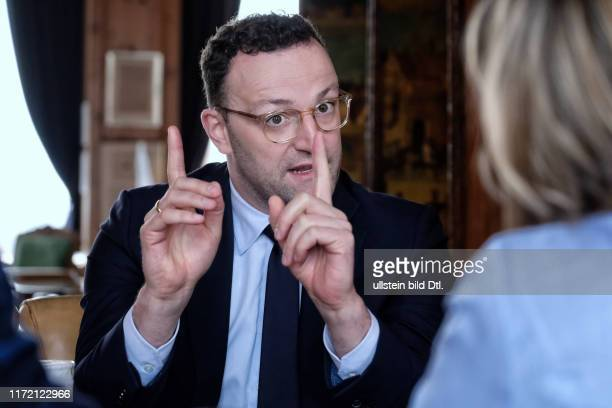 Doppelinterview mit Jens Spahn und Jutta Allmendinger hier im Axel Springer Journalistenclub