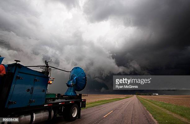 doppler on wheels - meteorology stock pictures, royalty-free photos & images