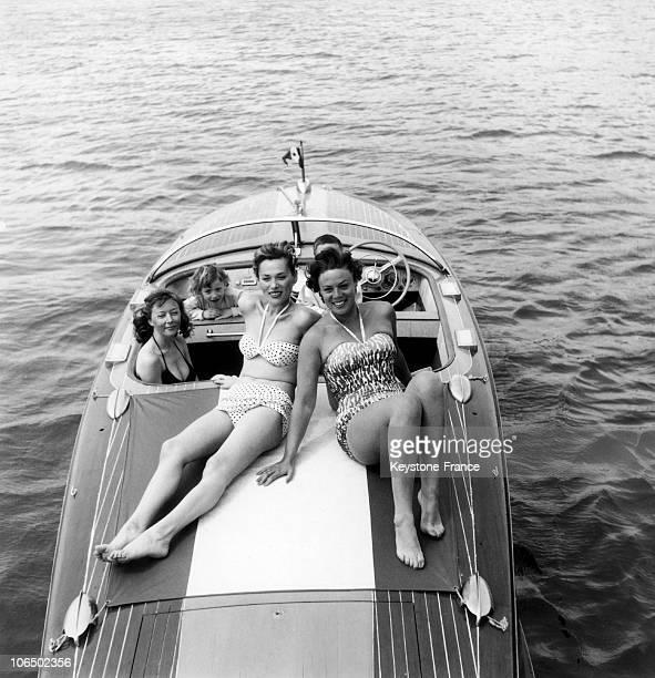 Dora Doll And Bella Darvi At The Cannes Film Festival In 1956