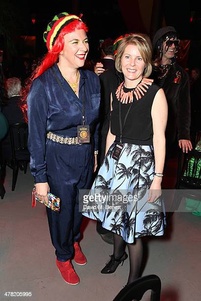 Dora Loewenstein and Serena Linley attend 'A Night of Reggae' hosted by Helena Bonham Carter for Save The Children UK at The Roundhouse on March 12...