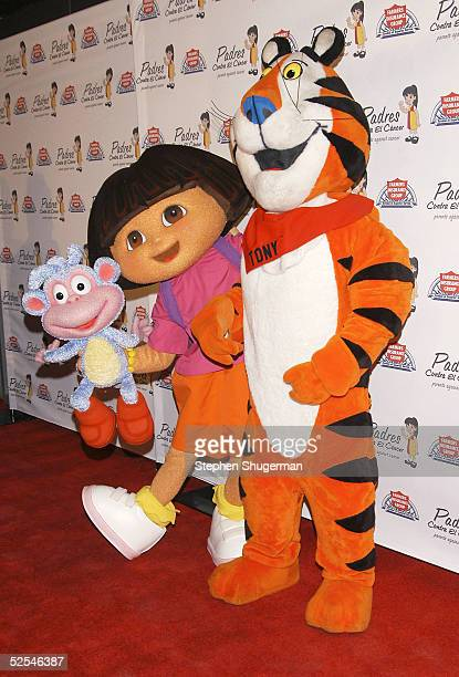 Dora the Explorer and Tony the Tiger attend Eva Longoria Honored at Padres Contra El Cancer 20th Anniversary Gala at Skirball Cultural Center on...