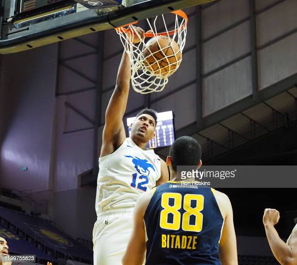 Doral Moore of the Delaware Blue Coats dunks the ball against the Fort Wayne Mad Ants on February 09 2020 at Memorial Coliseum in Fort Wayne Indiana...