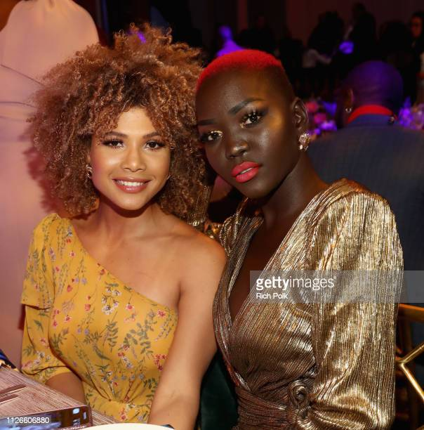 Doralys Britto and Nyakim Gatwech attend the 2019 Essence Black Women in Hollywood Awards Luncheon at Regent Beverly Wilshire Hotel on February 21,...