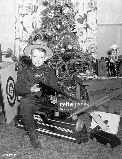 1/12/1945 Dorchester MA Santa Claus was a little late getting around to 5yearold Francis O'Neill but he finally arrived during the night and today...