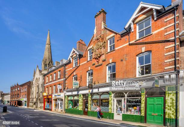 dorchester south street - high street stock pictures, royalty-free photos & images