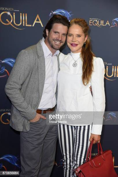 Doreen Dietel and her boyfriend Tobias Guttenberg during the world premiere of the horse show 'EQUILA' at Apassionata Showpalast Muenchen on November...