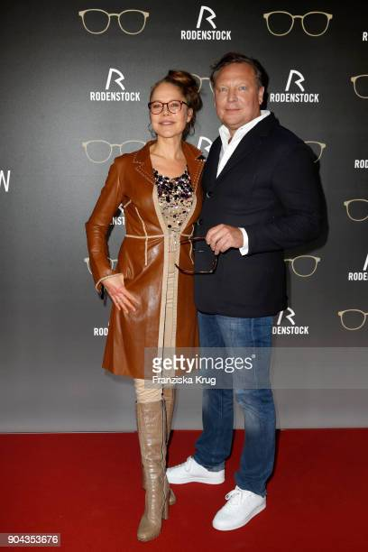 Doreen Dietel and Oliver Kastalio CEO Rodenstock during the Rodenstock Eyewear Show on January 12 2018 in Munich Germany