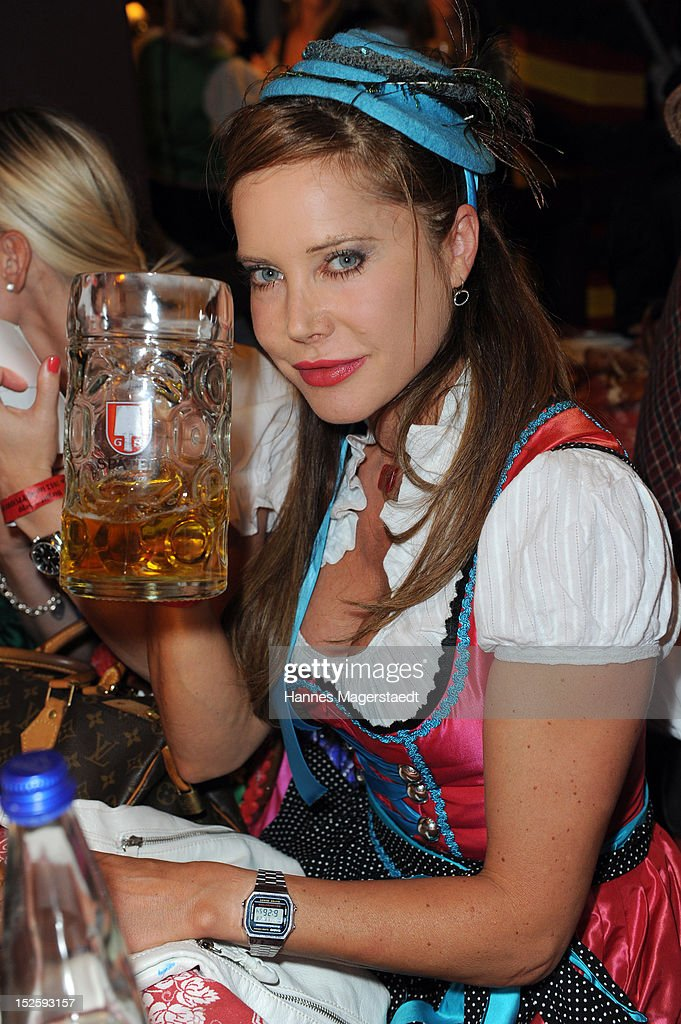 Doreen Dietel attends the Oktoberfest beer festival at Hippodrom on September 22, 2012 in Munich, Germany.