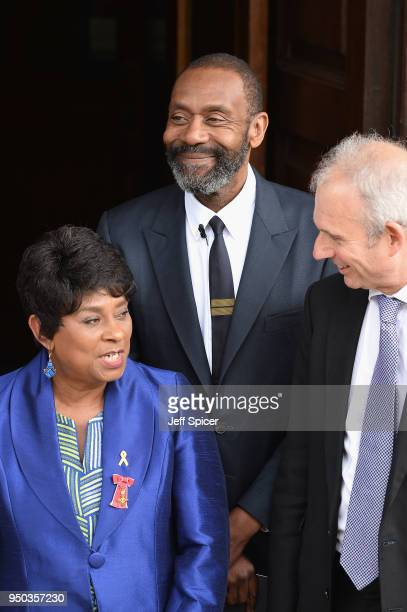 Doreen Lawrence Baroness Lawrence of Clarendon and Sir Lenny Henry attend the 25th Anniversary Memorial Service to celebrate the life and legacy of...