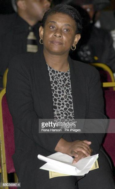 Doreen Lawrence mother of murdered teenager Stephen Lawrence before speaking at the funeral service of the late MP for Tottenham Bernie Grant at...