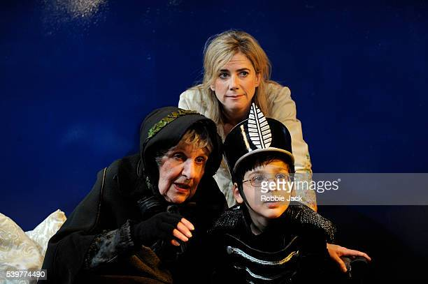 """Doreen Mantle as Rat Wife, Lino Facioli as Little Eyolf and Imogen Stubbs as Rita Allmers in Henrik Ibsen's """"Little Eyolf"""" directed by Anthony Biggs..."""