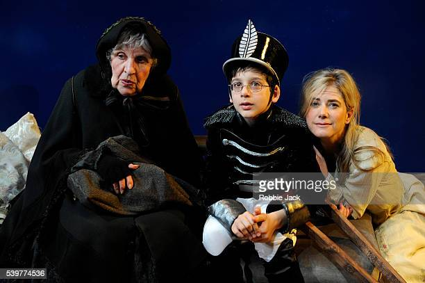 Doreen Mantle as Rat Wife Lino Facioli as Little Eyolf and Imogen Stubbs as Rita Allmers in Henrik Ibsen's 'Little Eyolf' directed by Anthony Biggs...