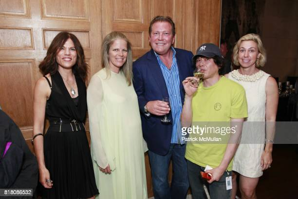 Doreen Remen Yvonne Force Villareal John Unwin Yoshitomo Nara and Marianne Boesky attend Jane Holzer Art Production Fund The Cosmopolitan of Las...