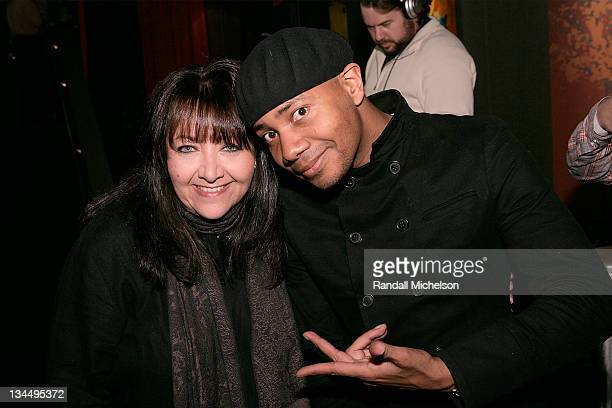 Doreen Ringer Ross BMI and DJ Spooky attend the BMI Big Crowded Room Party at the Leaf Lounge during the 2008 Sundance Film Festival on January 21...