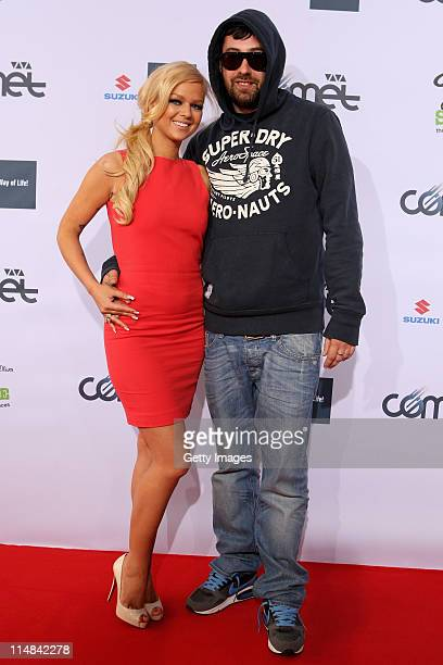 Doreen Steinert and Sido attend the VIVA Comet 2011 Awards at KoenigPilsner Arena on May 27 2011 in Oberhausen Germany