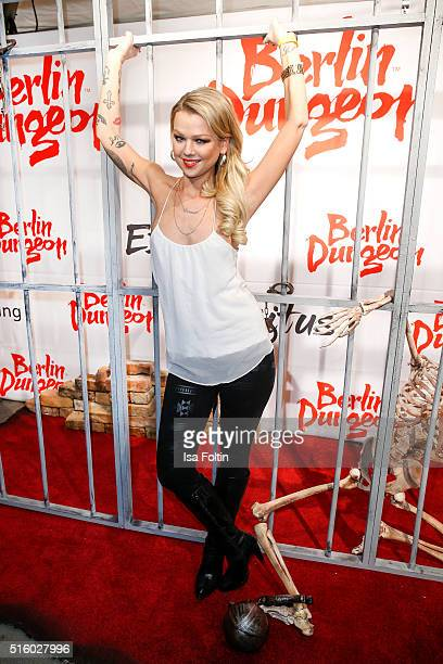 Doreen Steinert attends the Premiere Of 'Exitus' FreefallTowers At Berlin Dungeon on March 16 2016 in Berlin Germany