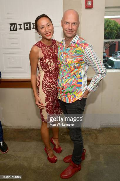Doreen Xia and Sebastian Thrun attend VIP Dinner For WIRED's 25th Anniversary Hosted By Nicholas Thompson And Anna Wintour at Tartine Manufactory on...
